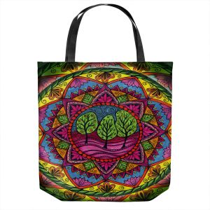 Unique Shoulder Bag Tote Bags | Ann-Marie Cheung - Trees Mandala | Geometric Nature Forest Trees