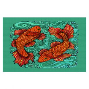 Decorative Floor Covering Mats | Ann Marie Cheung - Two Fish | water nature river ocean