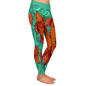 Casual Comfortable Leggings | Ann Marie Cheung - Two Fish | water nature river ocean