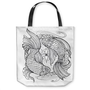 Unique Shoulder Bag Tote Bags   Ann Marie Cheung - Two Fish in Circle   nature water
