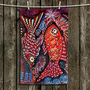 Unique Hanging Tea Towels | Ann Marie Cheung - Two Funky Fish | nature
