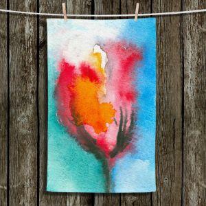 Unique Hanging Tea Towels | Brazen Design Studio - Abstract Tulip | Flowers Nature Abstract