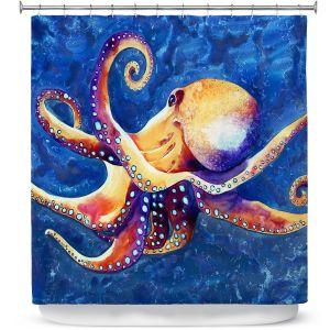 Premium Shower Curtains | Brazen Design Studio - Adrift Octopus
