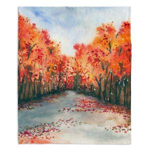 Decorative Fleece Throw Blankets | Brazen Design Studio - Autumn Journey