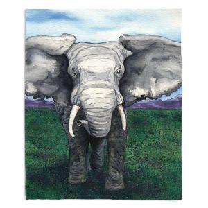 Artistic Sherpa Pile Blankets   Brazen Design Studio - Defiant   elephant animal nature creature