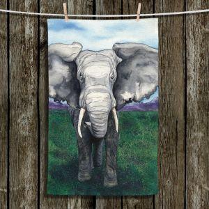 Unique Bathroom Towels | Brazen Design Studio - Defiant | elephant animal nature creature