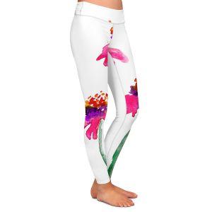 Casual Comfortable Leggings | Brazen Design Studio Echinacea