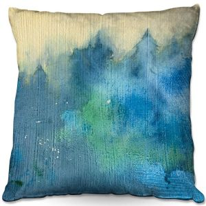 Decorative Outdoor Patio Pillow Cushion | Brazen Design Studio - Enchanted Forest | Trees Nature Forest