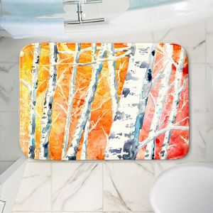 Decorative Bathroom Mats | Brazen Design Studio - Falling For Colour Birch Trees