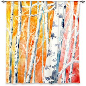 Unique Window Curtain Unlined 80w x 52h from DiaNoche Designs by Brazen Design Studio - Falling For Colour