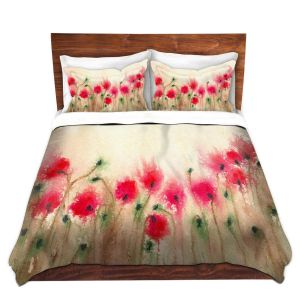 Artistic Duvet Covers and Shams Bedding | Brazen Design Studio - Field of Poppies
