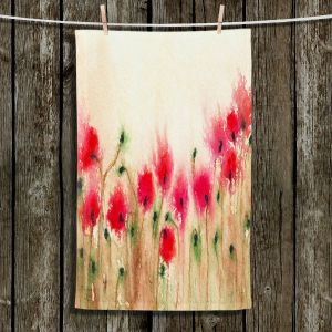 Unique Hanging Tea Towels | Brazen Design Studio - Field of Poppies | Flowers