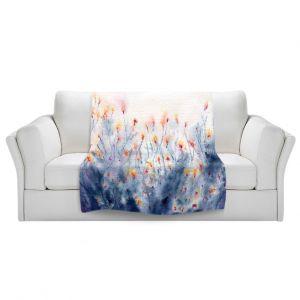 Unique Blanket Fleece Small from DiaNoche Designs by Brazen Design Studio - Floral Splendor
