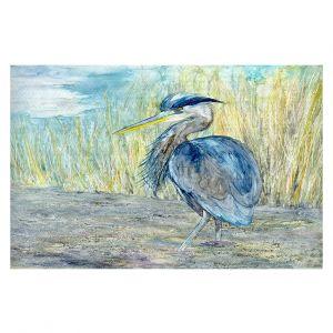 Decorative Floor Coverings   Brazen Design Studio - Great Blue Heron   Bird Nature