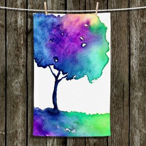 Unique Hanging Tea Towels | Brazen Design Studio - Hue Tree II | Trees Abstract
