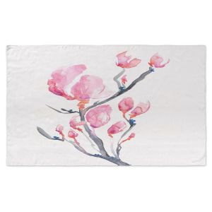 Artistic Pashmina Scarf | Brazen Design Studio - Japanese Magnolia | Flowers