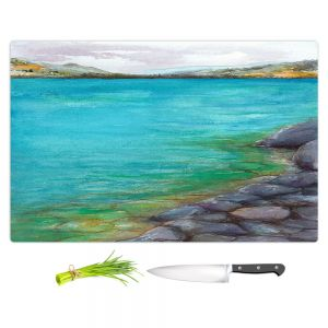 Artistic Kitchen Bar Cutting Boards | Brazen Design Studio - Kalamalka Lake | water nature shore
