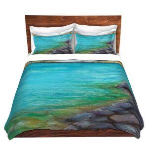Artistic Duvet Covers and Shams Bedding   Brazen Design Studio - Kalamalka Lake   water nature shore