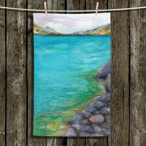 Unique Hanging Tea Towels | Brazen Design Studio - Kalamalka Lake | water nature shore