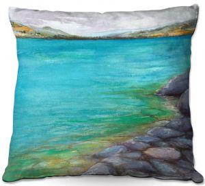 Throw Pillows Decorative Artistic | Brazen Design Studio - Kalamalka Lake | water nature shore