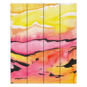 Decorative Wood Plank Wall Art | Brazen Design Studio - Land Lines | Nature Mountains Landscape