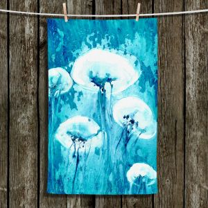 Unique Hanging Tea Towels | Brazen Design Studio - Luminous Jelly Fish | Ocean