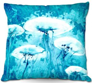 Decorative Outdoor Patio Pillow Cushion | Brazen Design Studio - Luminous Jelly Fish