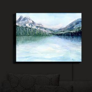 Nightlight Sconce Canvas Light   Brazen Design Studio - Misty Mountains   lake forest nature landscape