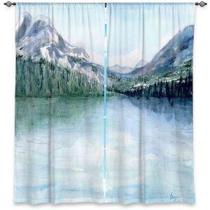 Decorative Window Treatments | Brazen Design Studio - Misty Mountains | lake forest nature landscape
