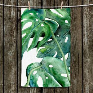 Unique Bathroom Towels | Brazen Design Studio - Monstera Deliciosa | Nature Leaves Plants