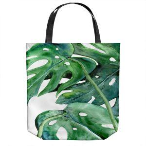 Unique Shoulder Bag Tote Bags | Brazen Design Studio - Monstera Deliciosa | Nature Leaves Plants