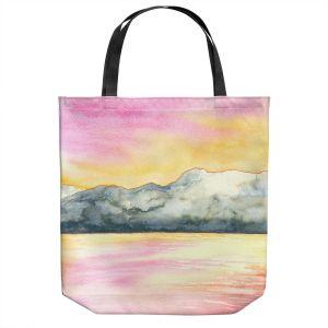 Unique Shoulder Bag Tote Bags | Brazen Design Studio - Okanagan Sunrise | Nature Mountains Lakes