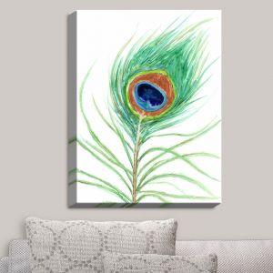 Decorative Canvas Wall Art | Brazen Design Studio - Peacock Feather