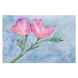Decorative Floor Covering Mats   Brazen Design Studio - Pink Floral   Flowers Plants Nature