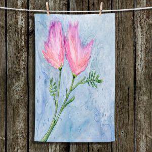 Unique Hanging Tea Towels | Brazen Design Studio - Pink Floral | Flowers Plants Nature