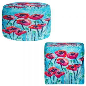 Round and Square Ottoman Foot Stools | Brazen Design Studio - Poppy Sky