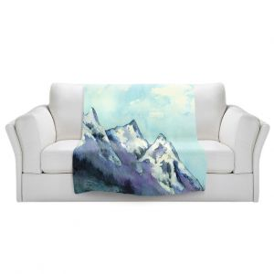 Artistic Sherpa Pile Blankets   Brazen Design Studio - Rocky Mountains   landscape nature