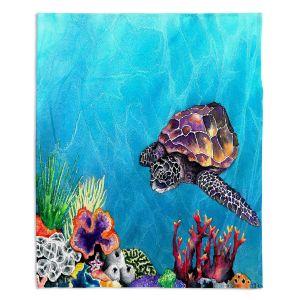 Decorative Fleece Throw Blankets | Brazen Design Studio - Sea Turtle