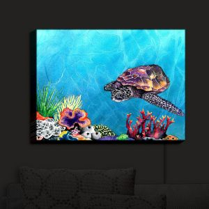 Nightlight Sconce Canvas Light | Brazen Design Studio's Sea Turtle