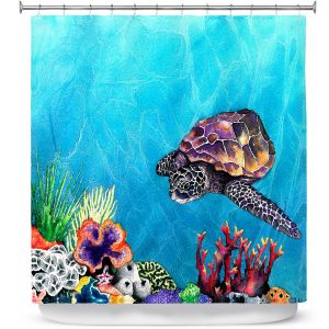 Premium Shower Curtains | Brazen Design Studio Sea Turtle