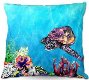 Throw Pillows Decorative Artistic | Brazen Design Studio's Sea Turtle