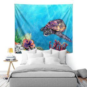 Artistic Wall Tapestry | Brazen Design Studio Sea Turtle