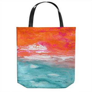Unique Shoulder Bag Tote Bags | Brazen Design Studio - Venilia | Abstract Landscape