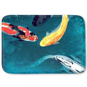 Decorative Bathroom Mats | Brazen Design Studio - Water Ballet Koi Fish