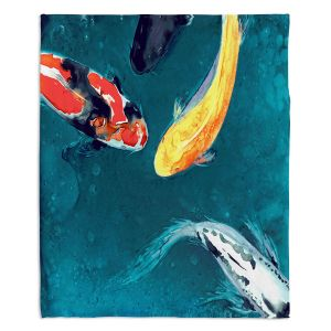 Decorative Fleece Throw Blankets | Brazen Design Studio - Water Ballet