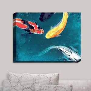 Decorative Canvas Wall Art | Brazen Design Studio - Water Ballet Koi Fish