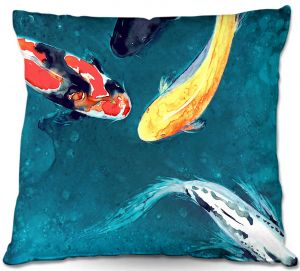 Throw Pillows Decorative Artistic | Brazen Design Studio's Water Ballet