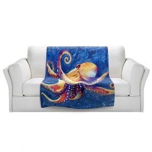 Artistic Sherpa Pile Blankets | Brazen Design Studio - Adrift Octopus
