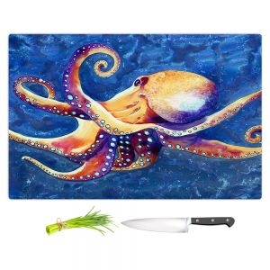 Artistic Kitchen Bar Cutting Boards | Brazen Design Studio - Adrift Octopus