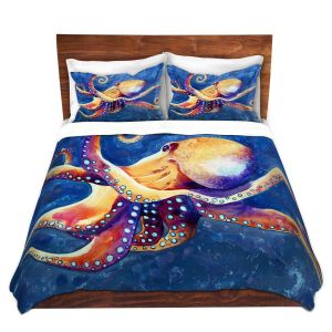 Artistic Duvet Covers and Shams Bedding | Brazen Design Studio - Adrift Octopus
